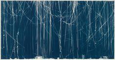 Christian Marclay (American, b. 1955). Memento (Soul II Soul), 2008. Cyanotype; Image: 130.8 x 251.5 cm (51 1/2 x 99 in.);  Frame: 139.7 x 259.1 cm (55 x 102 in.). The Metropolitan Museum of Art, New York, Purchase, Alfred Stieglitz Society Gifts, 2009 (2009.6). © Christian Marclay.
