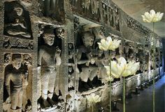LOTUS FEET - AJANTA, SARNATH, TIBET & BEYOND The journey of the lotus from muddy waters to a luminous fragrant flower is symbolic of the universal desire to attain a higher level of existence. For thousands of years, Hinduism and Buddhism have used the lotus as a symbol of purity. Ajanta, a UNESCO world heritage site, is famous for its Buddhist rock-cut cave temples and monasteries with their extraordinary wall paintings. #EarthSongBlog #Buddhism