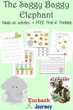Saggy Baggy Elephant Activities and FREE Printable