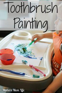 Toothbrush Painting Craft