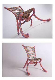 Handmade Rubber Band Chair, Preston Moeller