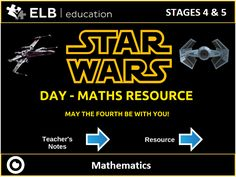 """Celebrate Star Wars Day with investigations using applied maths and physics and test the """"reality"""" of the space battles! Suitable for any interactive teaching display."""