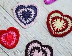 Pétalos de puntillas a ganchillo: Espiga de San Valentín patrón de corazón de Stitch