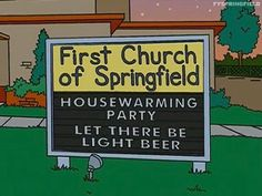 """Religious humor - The Simpsons Central (@simpsonscentral) on Instagram: """"Light beer"""""""