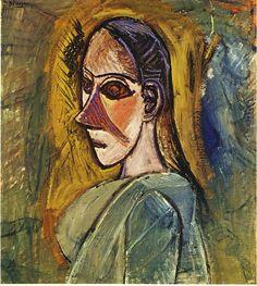 """Picasso:""""Busto de una señorita"""" París 1907"""