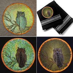 Moon Shadows Owl emotes a midnight feel with full moon iridescence.  Moon Shadows Owl stitches in 4 variations, 3 in Mylar and 1 as a direct stitch file. Photo instructions are included to walk you through each variation.  Save 20% with code: PIN20 #EmbroideryDesigns #MylarEmbroideryDesigns #HalloweenEmbroideryDesigns