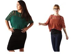Molly - blouse. Knitted with drop stitches.