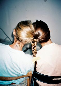 friendship  ... i wish my hair was long enough to do this!