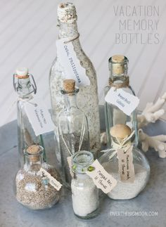 Over The Big Moon Beach Vacation Memory Bottles