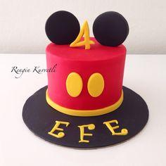 Mickey Mouse Birthday Cake / Mickey Mouse Doğumgünü Pastası