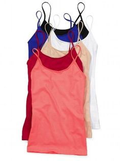 This is a great quality regular legnth Tank top Versatile Basic Spaghetti Strap Satin Trim Stretch Camisole Tank Yoga Everyday Active Adventure Travel Fitted Scoop neckline, adjustable shoulder straps Satin Trim Fully stretchable Please note: this top has a built-in shelf bra Body length in size medium: 22'' 95% Cotton, 5% Spandex Imported. Satisfaction guaranteed Returns accepted. We ship worldwide