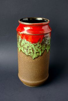 Vintage Fat Lava Vase Made in Germany by bitofbutter on Etsy, $35.00