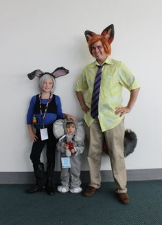 Pin for Later: We Can't Get Enough of the Creative Cosplays From Comic-Con 2016 Lt. Judy Hopps, Finnick, and Nick Wilde — Zootopia
