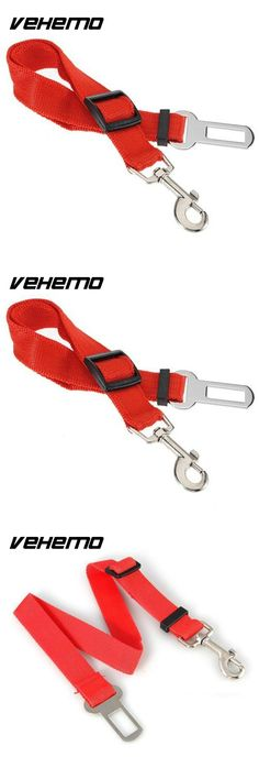Vehemo New RED Car Vehicle Auto Seat Safety Safe Belt Seatbelt Harness Buckle Adjustable Travel for Dog Pet Cat