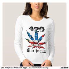 420 Marijuana Women's Apparel Long Sleeve