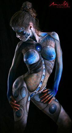body painting, anubis vrussh
