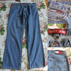 VTG Tommy Hilfiger Men Blue Jeans Size 34 34 2002 #TommyHilfiger #Relaxed