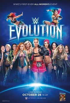 First Time Ever All Woman Event Called Evolution PPV: Ember Moon Asuka Bayley Alexa Bliss Naomi Becky Lynch Charlotte Ronda Rousey Nikki Bella Brie Bella Natalya & Nia Jax Wwe Ppv, Wwe Raw And Smackdown, Charlotte Flair Wwe, Shayna Baszler, Rowdy Ronda, Wwe Women's Division, Nikki Bella, Brie Bella, Wwe Girls