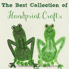 Adorable Footprint Frogs (The Best Collection of Handprint Crafts) #preschool #kidscrafts #efl #education (repinned by Super Simple Songs)