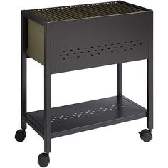 Office Designs 24-inch Mobile File Book Cart with Locking Casters