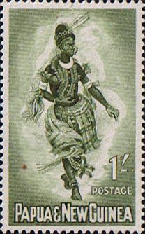 Papua New Guinea 1961 Female Dancers SG 30 Fine Mint Scott 158 Other Papua New Guinea Stamps HERE!