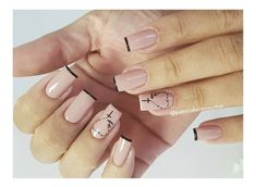 Manicure y pedicure Aycrlic Nails, Manicure And Pedicure, Coffin Nails, Cute Nails, Cross Nails, Wedding Manicure, Top Nail, Nail Arts, Christmas Nails