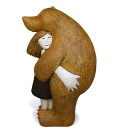 paul smith bearhug ceramic hand-built sculpture