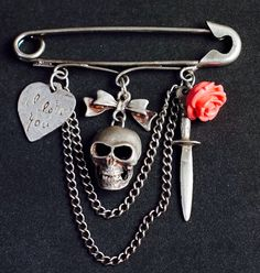 Charming silver kilt pin by maniawithlove love