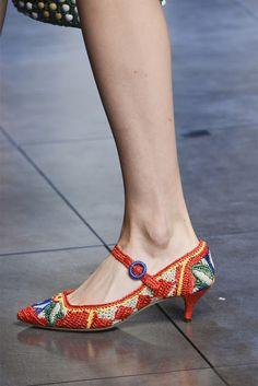 Outstanding Crochet: More crochet shoes from D&G. SS 2013