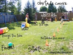 Summer outdoor games for adults obstacle course Ideas Obstacle Course Party, Toddler Obstacle Course, Backyard Obstacle Course, Backyard Games, Outdoor Games, Outdoor Play, Party Outdoor, Backyard Play, Summer Activities