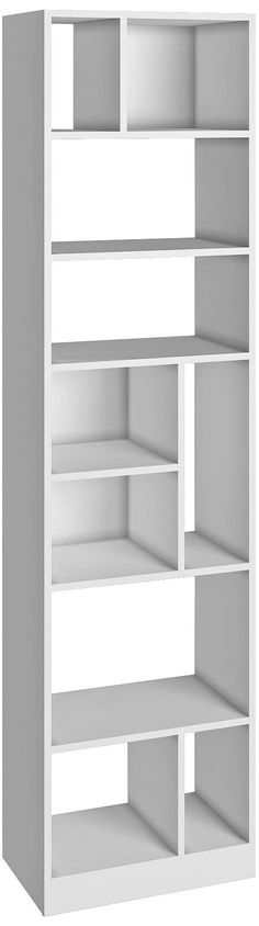 Valenca 10-Shelf White Wood Tall Bookcase - #1J361 | Lamps Plus
