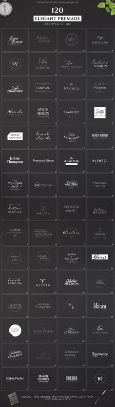 120 Elegant Premade Logo Pack by XpertgraphicD on @creativemarket