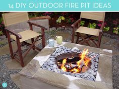 14 #DIY #Outdoor Fire Pit ideas for your #backyard. Enjoy a summer night by the fire :)