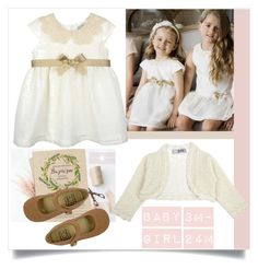 """""""baptism"""" by tuaptstore on Polyvore featuring dress, BabyGirl and kidswear"""
