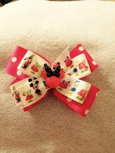 Minnie,Micky and friends hair bow