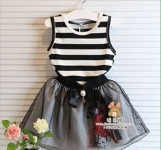Minnie Promotion Jersey A-line Short Kids Dresses For Girls 2017 Hot Sale Girl Dresses Baby Dress Stripe Tutu For Chirld Clothes Fashion Kids, Fashion Outfits, Korean Fashion, Baby Outfits, Kids Outfits, Wholesale Baby Clothes, Baby Girl Boutique, Short Dresses, Girls Dresses