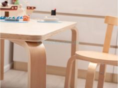 Mocka Hudson Mini Table, with Hudson Mini Chairs, Wooden Play Set, Jolt Tall Drawers and Jolt Bdeside Drawers