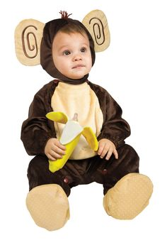 Monkey Going Bananas! With Bottle Dark Brown Costume