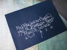 wedding invitation envelope   gooseberry gala