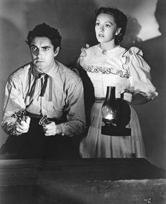 Nancy Kelly & Tyrone Power, Jr. in Jesse James (1939).