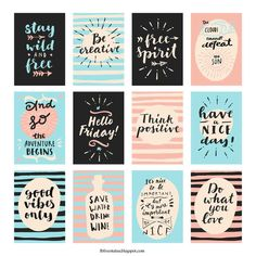 New craft quotes printables planner stickers Ideas Printable Planner Stickers, Journal Stickers, Free Printables, Free Printable Quotes, Craft Quotes, Wall Art Quotes, Good Morning Wishes, Cute Stickers, Happy Planner