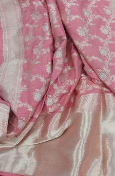 Pink Handloom Banarasi Pure Katan Silk Saree    #banarasisilksaree#