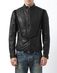 DIESEL BLACK GOLD MOD.LORDBAIRON SIZE: 50 ( L/XL ) LEATHER T (Clothing, Shoes & Accessories Men's Clothing Coats & Jackets)