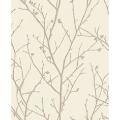 Graham and Brown 104758 Organic Water Silk Sprig Embossed Twig Non-Pasted Evita Taupe Wall Coverings Wallpaper Metallic Wallpaper, Vinyl Wallpaper, Wallpaper Roll, Peel And Stick Wallpaper, Taupe Walls, Silver Walls, Organic Water, Graham Brown, Montage