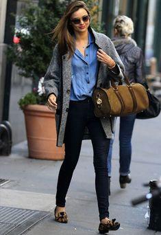 Miranda Kerr Street Style Fashion Grey Oversized Cocoon Wool Coat Jacket    4      2