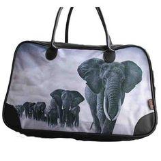 Cotton Road Kit Bag with Elephant Print