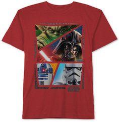 Star Wars Little Boys' Group Pop Yoda, Darth Vader, R2-D2 & Stormtrooper T-Shirt