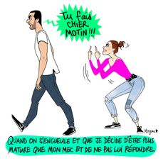 La maturité, toujours la maturité Funny Couple Pictures, Funny Photos, Save The Date Illustrations, New York From Above, Anime Pregnant, Funny Couples, Wedding Humor, Funny Stories, Cute Illustration