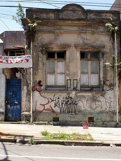 Demolished house at Joaquim Tavora street, Vila Mariana (Sao Paulo, Brazil)