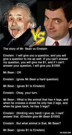 Mr. Bean in genius mode...don't know if this is true, but it's amusing all the same